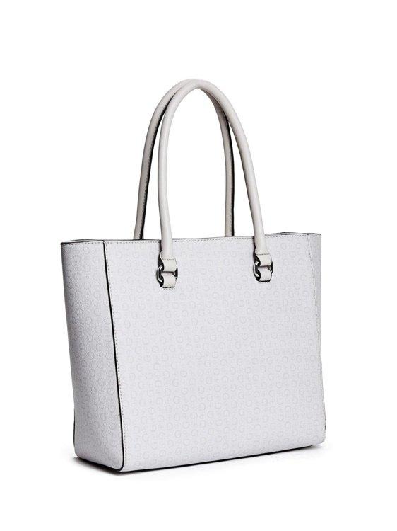 33165a4e4b Dámská kabelka Guess Daly Saffiano logo- cement - Guess- kabelky a ...